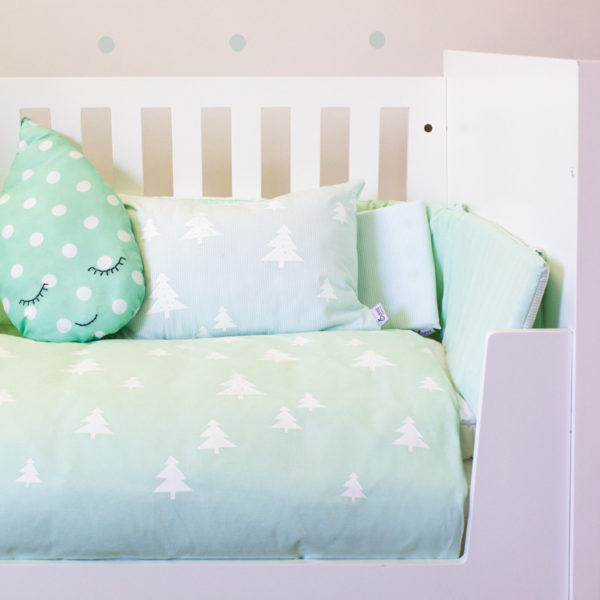 Skandi Pines Mint Cot Set