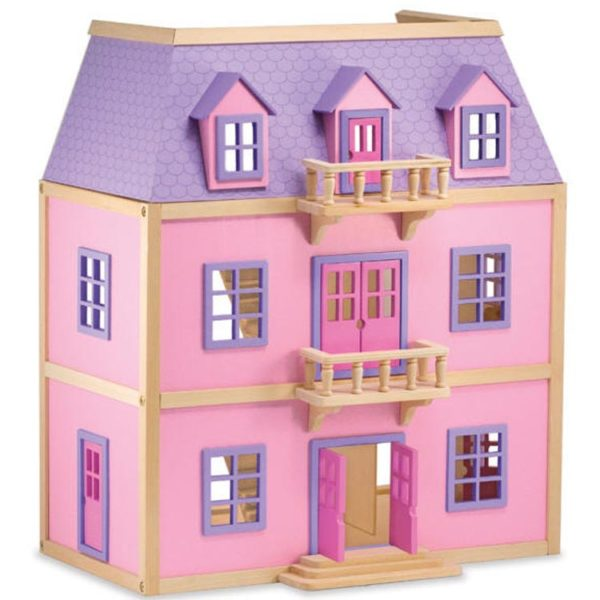 Multi Level Solid Wooden Doll House
