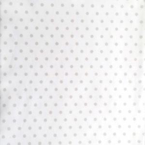 Stone Dot on White Fabric