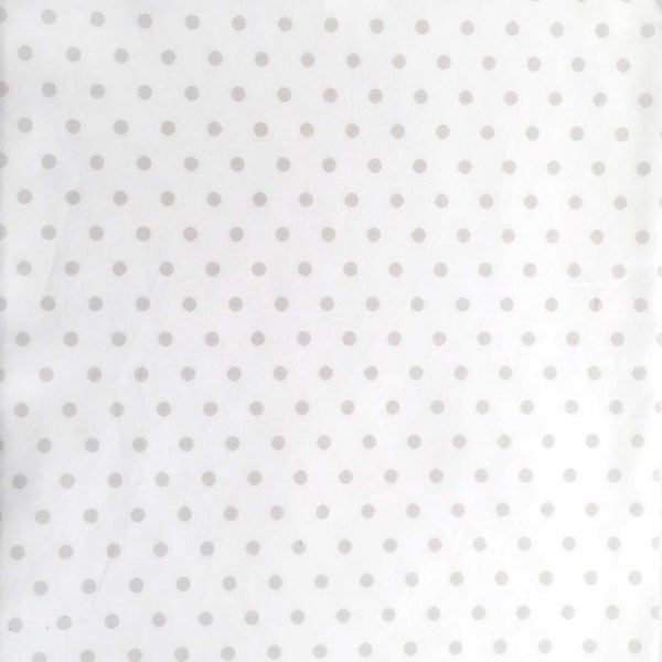 Stone Dot on White Fabric
