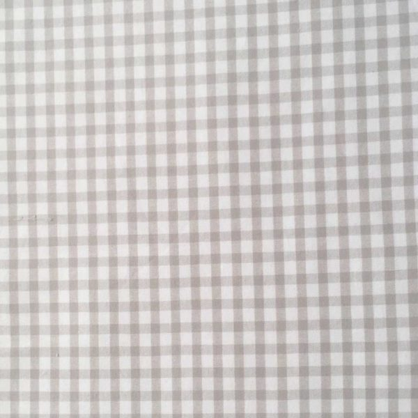 Stone Gingham Fabric