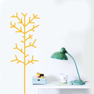 Straight Tree Large Decal