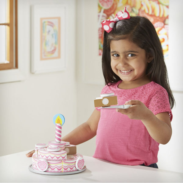 Triple layer party cake toy
