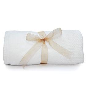 Cellular Baby Blanket - White