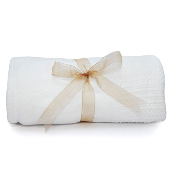 Cellular Baby Blanket - White