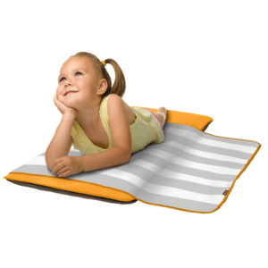 Bandit Toddler Nap Pad - Orange (with Built-in Self-Inflating Technology)