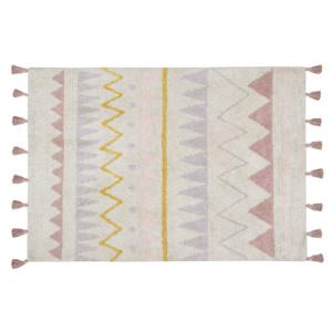 Aztec Natural Rug - Vintage Nude Pink