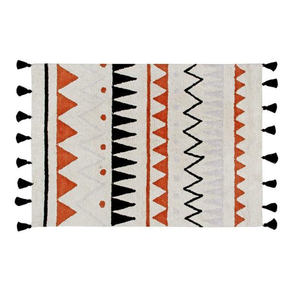 Aztec Natural Rug - Vintage Terracotta