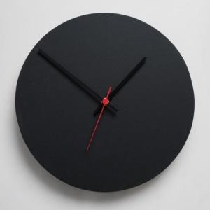 Round Clock - Black