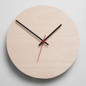 Round Clock - Natural