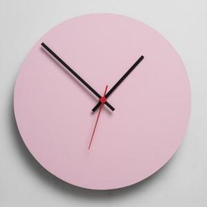 Round Clock - Pink