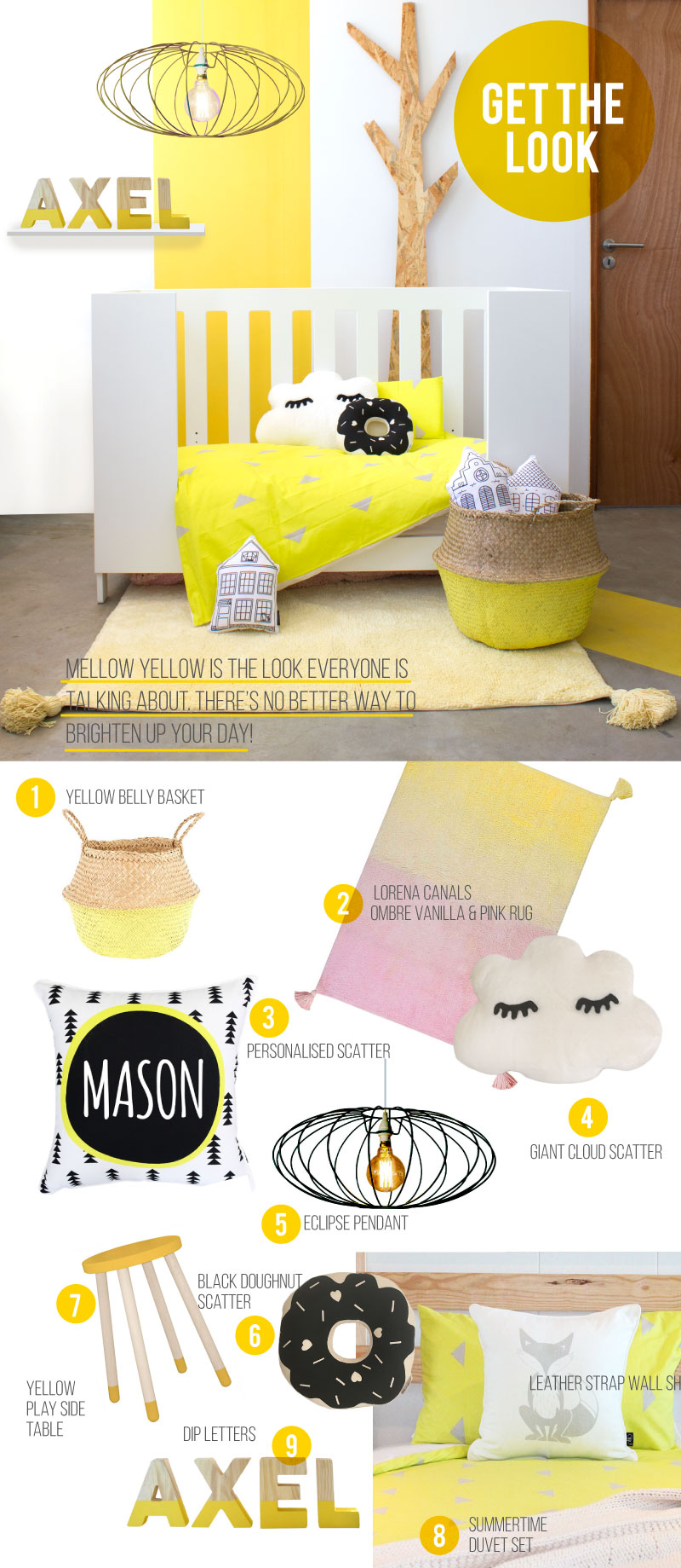 Get the look Mellow Yellow Nursery Decor Clever Little Monekey