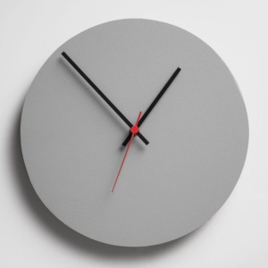 Round Clock - Grey
