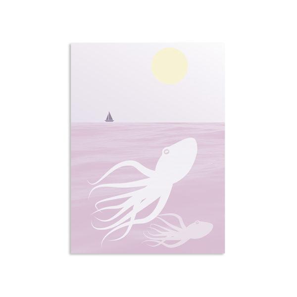 Octopus Art Print A3