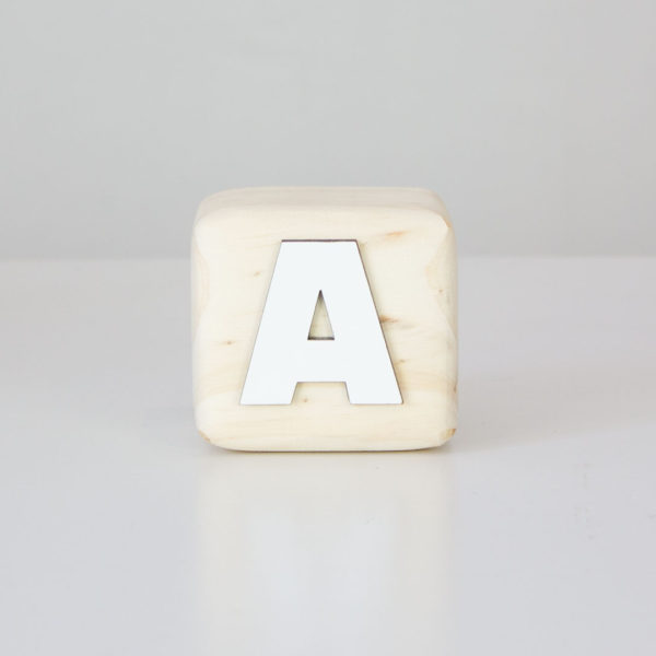 Wood Block Letters - A