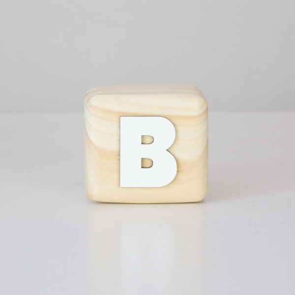 Wood Block Letters - B