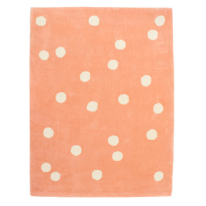 Wild Dot Rug - Coral & Ivory