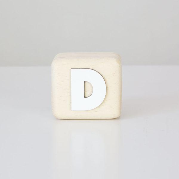 Wood Block Letters - D