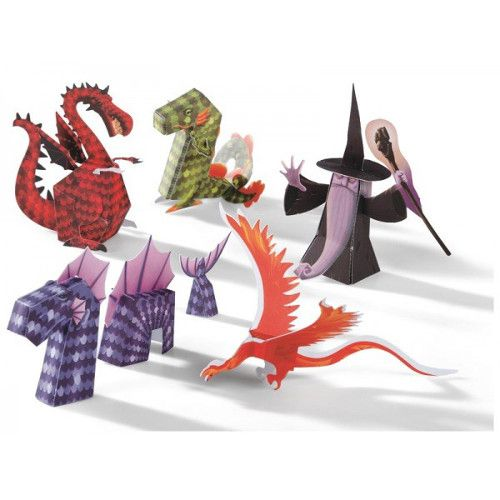 Dragons and Chimeras Paper Toys by Djeco