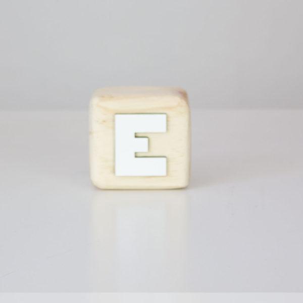 Wood Block Letters - E