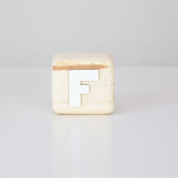Wood Block Letters - F
