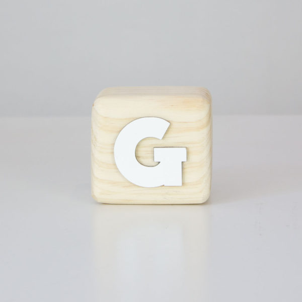 Wood Block Letters - G