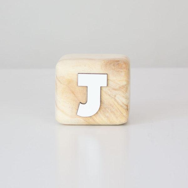 Wood Block Letters - J