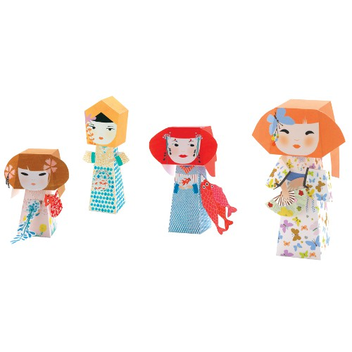 Kokeshi Dolls Paper Toys by Djeco