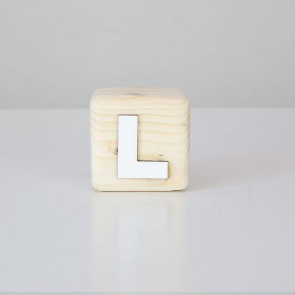Wood Block Letters - L