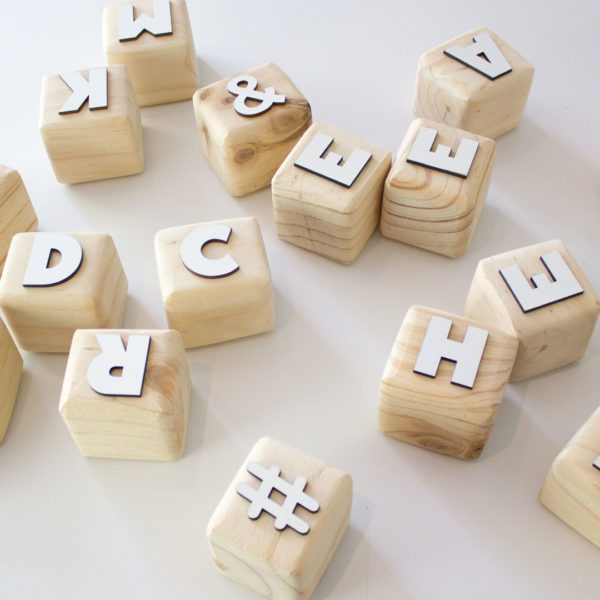 Alphabet Wood Block Letters