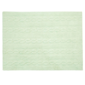 Braided Rug - Soft Mint