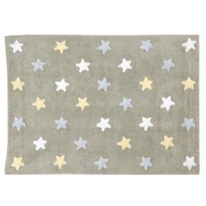 Tricolour Stars Rug - Blue