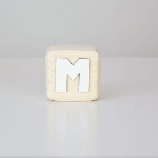 Wood Block Letters - M