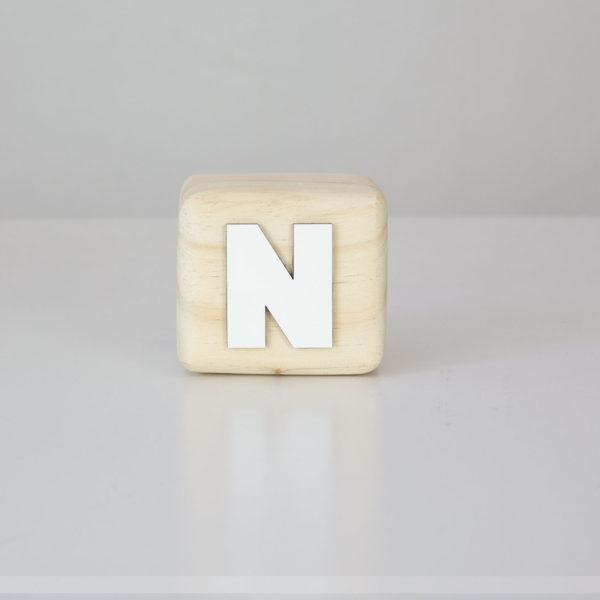 Wood Block Letters - N