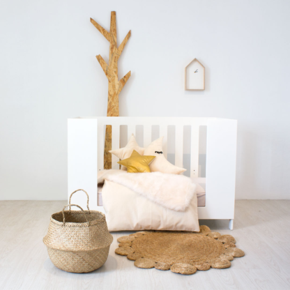 Natural Ivory Cot Set & Cozi Sleeper Cot