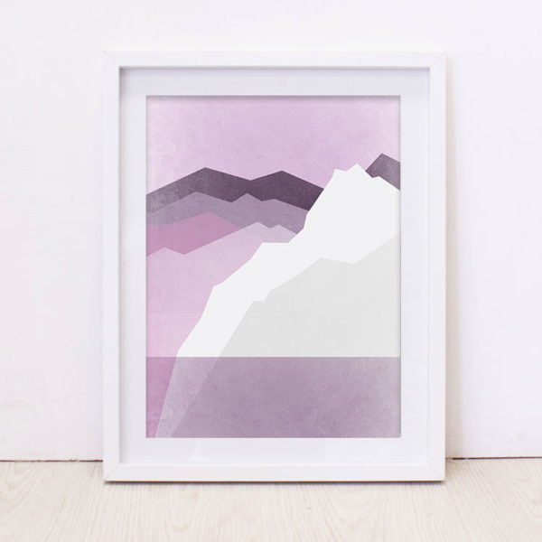 Purple Mountain Art Print