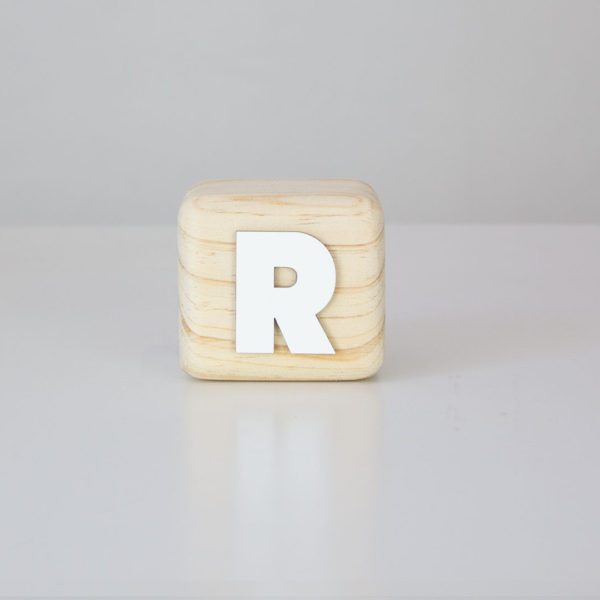 Wood Block Letters - R