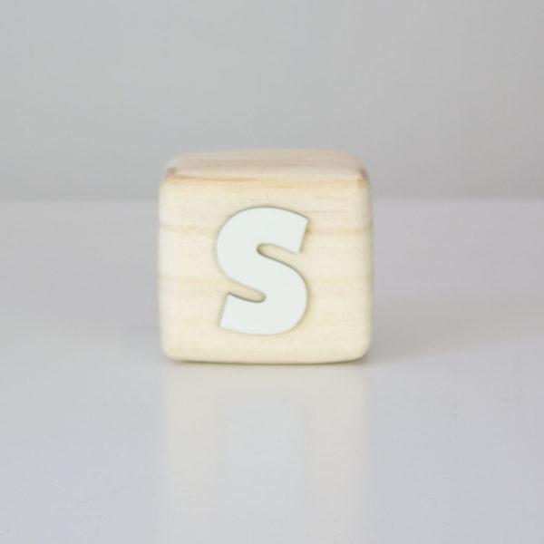 Wood Block Letters - S