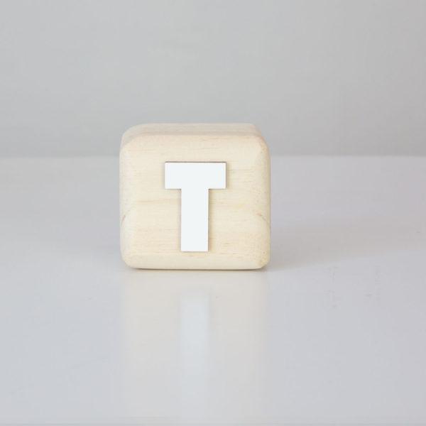 Wood Block Letters - T