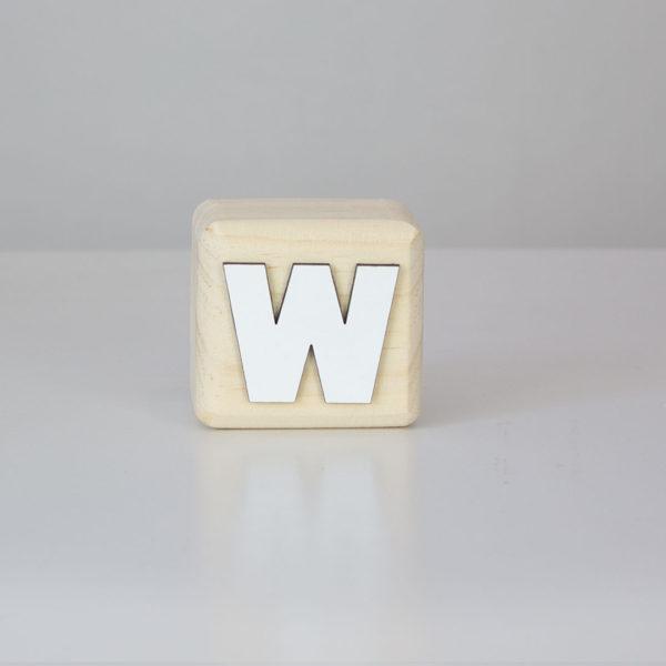 Wood Block Letters - W