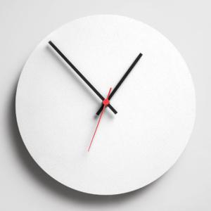 Round Clock - White