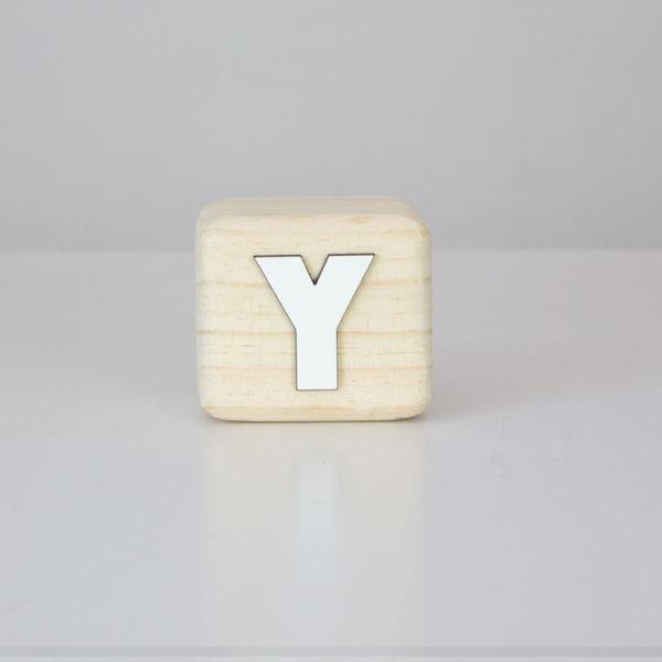 Wood Block Letters - Y