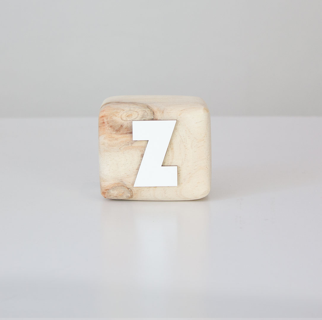 Wood Block Letters ~ Alphabet wood block letters solid pine with white letter