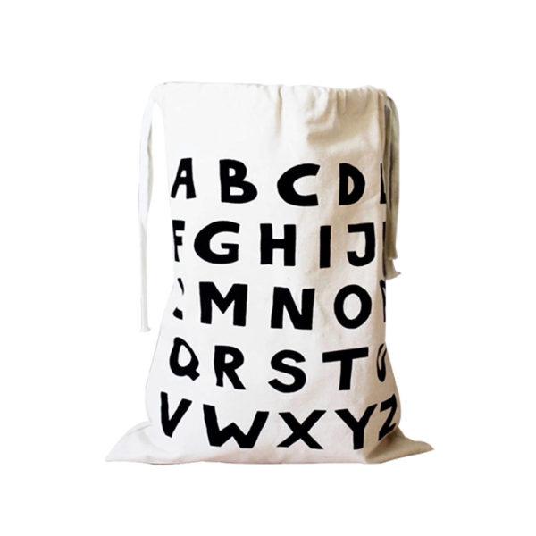 Alphabet Fabric Storage Bag