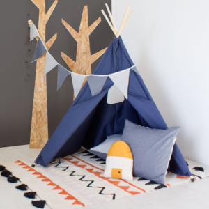 Blue Teepee Play Tent