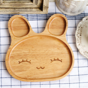Cute Bunny Toddler Plate