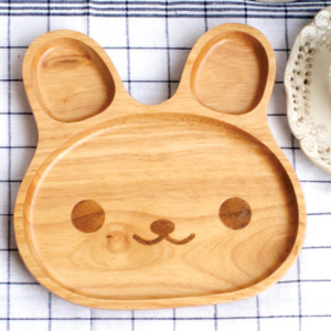 Happy Bunny Toddler Plate