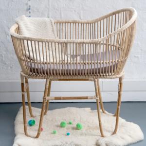 Rattan Baby Crib