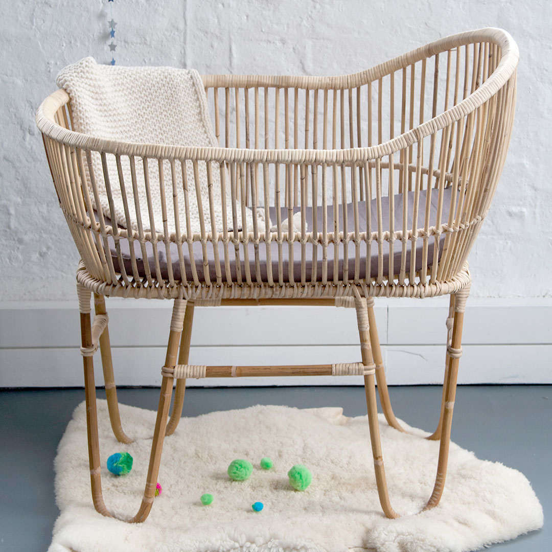 Rattan Cane Baby Crib By Lu Barnabe Clever Little Monkey