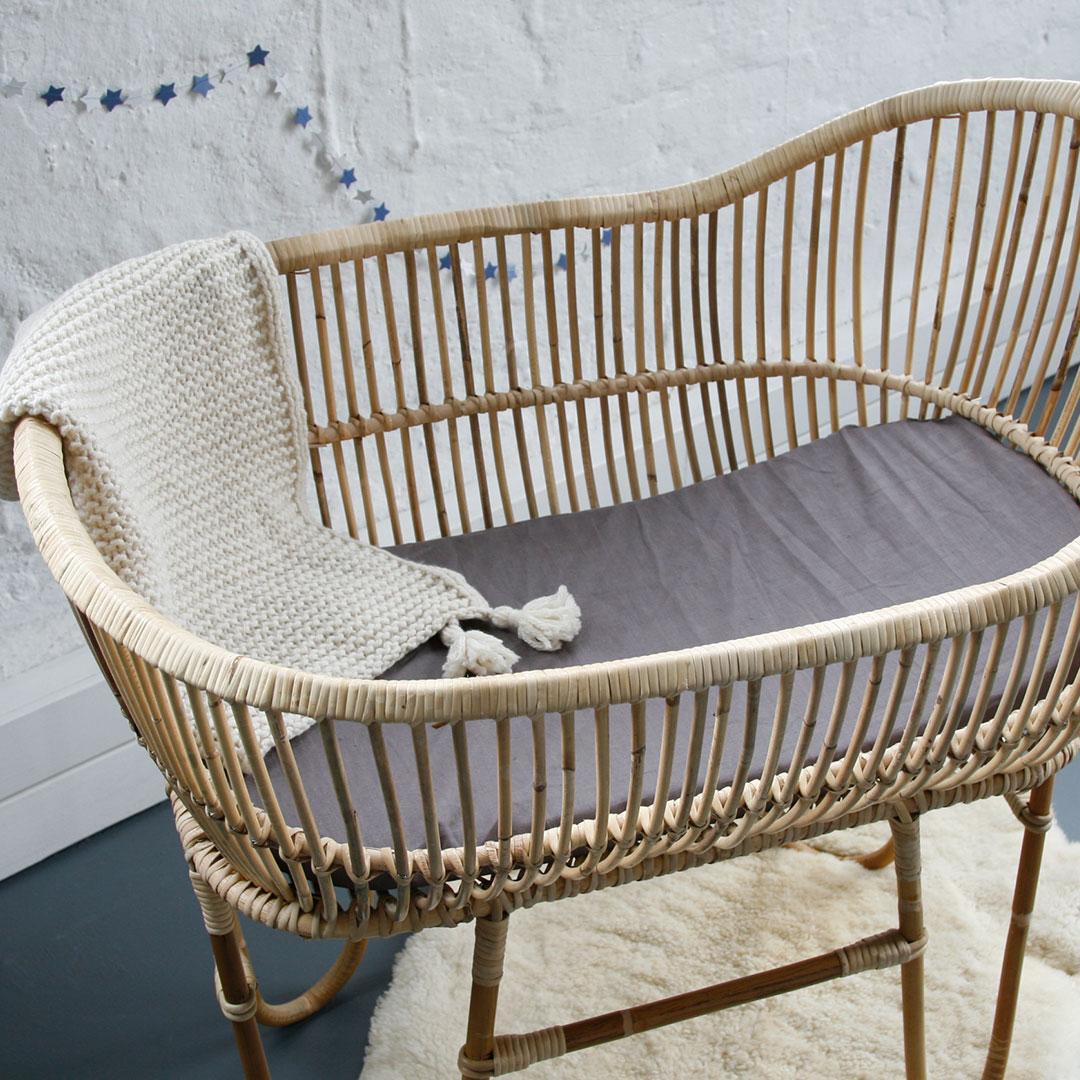 Wicker crib for sale durban -  Rattan Baby Crib